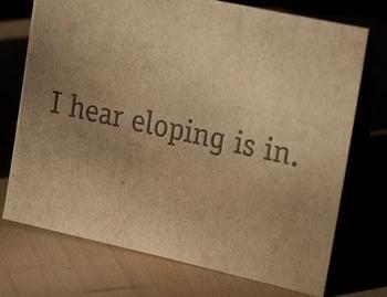 eloping