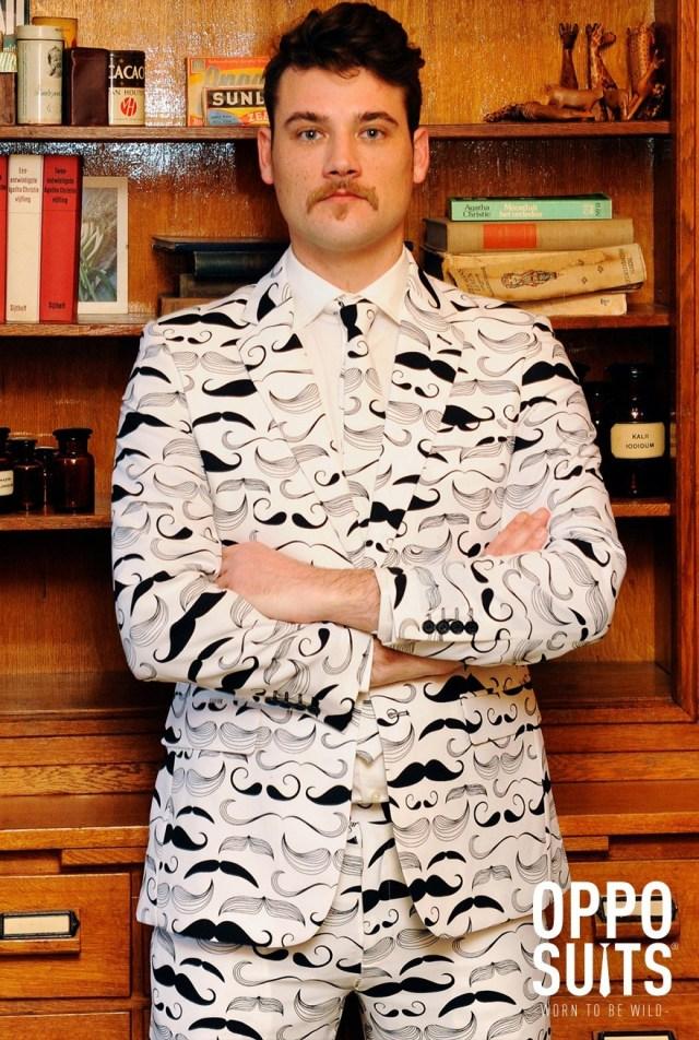moustache suit