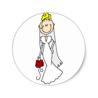 stick figure bride