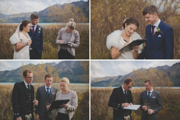 queenstown celebrant elopement wedding paperwork