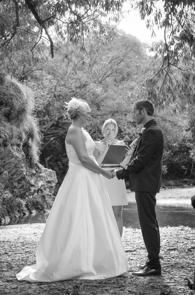 queenstown marriage celebrant arrowtown wedding B&W
